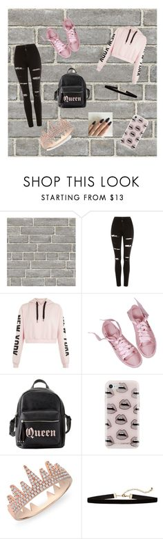 """Blackpink"" by tekiii ❤ liked on Polyvore featuring Wall Pops!, Topshop, Charlotte Russe, Rebecca Minkoff and Anne Sisteron"