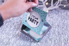 Geburtstagseinladung Hurra - Coole Einladung in Leporelloform nach einer Idee von Stempelherz und mit den Materialien von Stampin Up