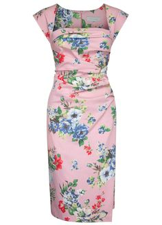 Ella dress by Caroline Kilkenny. Satin Floral.