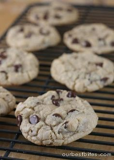 Chewy Chocolate Chip Cookies | Our Best Bites- Fantastic, but I've always had to add about 60 g of flour more