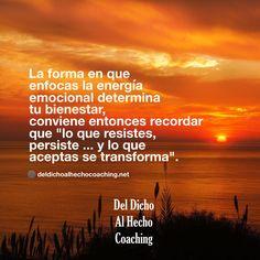 """""""Lo que resistes persiste... y lo que aceptas se transforma""""  #Coaching #DesarrolloHumuano #InteligenciaEmocional #Bienestar"""