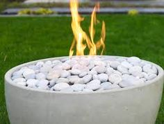 Image result for outdoor rock fire bowl