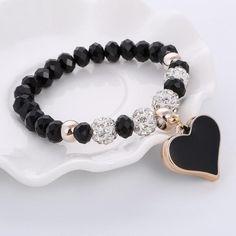 Crystal Heart Bracelet & Bangle