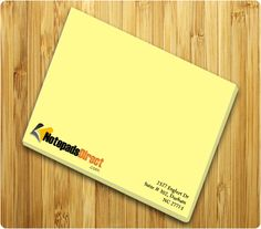 4 x 3 Custom Sticky Notes Yellow Pastel Paper / PMS Color - Custom Sticky Pads Personalized Sticky Notes, Custom Sticky Notes, Pms Colour, Color, Sticky Pads, Pastel Paper, Yellow, Prints, Colour