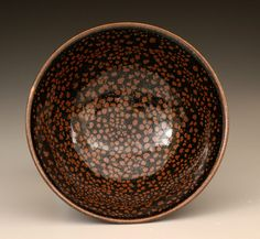 John Tilton, oil spot glazed bowl
