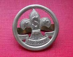 scout pin/insignia sombrero de antiguo dirigente excelente!