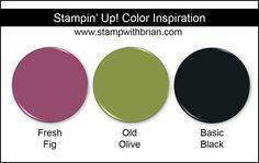 Stampin' Up! Color Inspiration: Fresh Fig, Old Olive, Basic Black