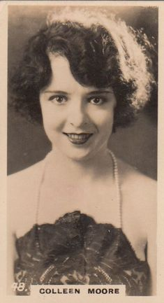 Colleen Moore années 1920 Old Hollywood Stars, Hollywood Icons, Hollywood Actresses, Classic Hollywood, Zulu, Colleen Moore, 1920s Makeup, Lee Curtis, Silent Film