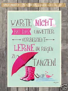 tanz im regen! - Trend Home - Trending Pins Daily Quotes, True Quotes, Best Quotes, Funny Quotes, Tips To Be Happy, German Quotes, Dancing In The Rain, Quote Prints, True Words