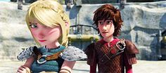 This is so sad here, I think. Hiccup is trying to comfort Astrid, but he can't. One she would is too touchy, but also because their relationship isn't like it was when they were younger.