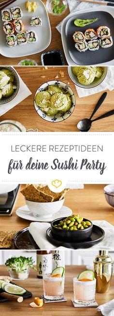 10 tips for an unforgettable sushi party in your kitchen - Make sushi yourself like the old masters and with all your friends. With these 10 tips, nothing sta - Sushi Party, Vegan Sushi, How To Make Sushi, Asian Kitchen, Famous Recipe, Chinese Restaurant, Asian Recipes, Food Porn, Brunch