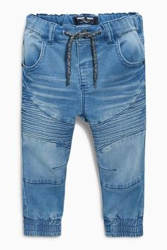 Light Blue Jersey Denim Pull-On Biker Jeans Boys Cargo Shorts, Boys Pants, Baby Boy Outfits, Kids Outfits, Boys Clothes Online, Dungaree Jeans, Baby Boy Swag, Joggers Outfit, Baby Jeans