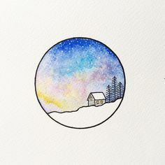 Love the combination of pen and watercolour paint in this artwork by Peta Heffernan