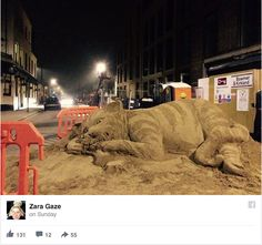 On Saturday afternoon, sand sculptor Zara Gaze came upon a pile of sand at a construction site in her rapidly gentrifying south London neighborhood of Brockley.