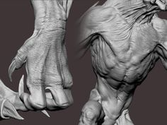 Collection of Zbrush Sculpting techniques Zbrush Character, 3d Model Character, Character Art, Creature Feature, Creature Design, Dragon Anatomy, Humanoid Creatures, Animal Symbolism, Modelos 3d