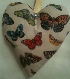 Butterfly Fabric Heart Lavender Bag / Butterfly Gift - Handmade in Home, Furniture & DIY, Home Decor, Other Home Decor   eBay