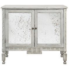 Design Chic - Okorie Console Cabinet, $875.60 (http://www.shopdesignchic.com/okorie-console-cabinet/). Striking light gray with distressed wood accents. #HomeDecor