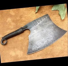 The more skills you discover, the more self reliant you are and the greater your opportunities for survival ended up being. Here we are going to discuss some standard survival skills and teach you the. Cool Knives, Knives And Swords, Forged Knife, Forging Knives, Cleaver Knife, Cold Steel, Custom Knives, Survival Knife, Chef Knife