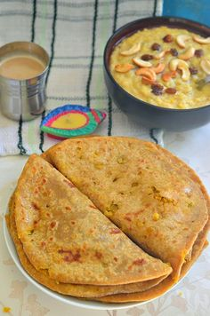 """Wholewheat Lentil stuffed sweet Flatbread """"Puran Poli"""" - Full of Protein and Fiber, and super tasty !! Can be eaten as a Dessert or a meal on its own"""