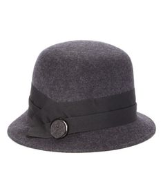 c00d0870e2c Another great find on  zulily! Charcoal Slanted Wool Cloche by Jeanne  Simmons Accessories