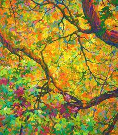 SOLD Balaams Wood Autumn Dance, 46 x 40, oil on canvas