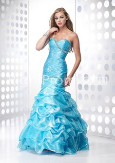Sweetheart Floor-Length Mermaid Ruffles&Beadings Homecoming Dresses