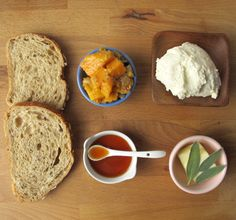 Grilled Cheese with spicy sweet potatoes, hot honey, ricotta, and sage butter by Grilled Cheese Social: The Hot Box