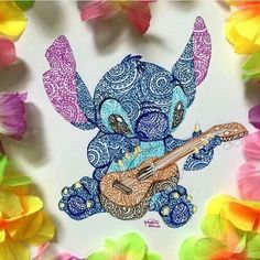 Mandala Stitch and ukulele