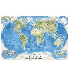 buy world physical map poster size from online map store decorate your wall by selecting a wide range of nat geo wall maps available in diverse formats and