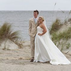 Charleston, SC Beach Wedding at Wild Dunes Resort | Bride and Groom on the beach | #WildDunesWeddings | Destination Isle of Palms and Charleston Weddings | Photo by Mcbee Photography