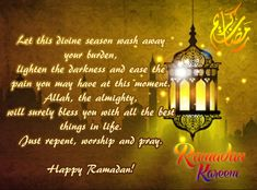 See Now Ramadan Mubarak Wishes Quotes Messages & Prayers. Ramadan is the holiest and most perfect celebration of Islam. Ramzan Mubarak Wishes is . Ramadan Start, Ramadan Day, Happy Ramadan Mubarak, Ramadan Greetings, Meaningful Love Quotes, Inspirational Quotes, Meaning Of Ramadan, Ramadan Wishes Messages, Ramzan Wishes