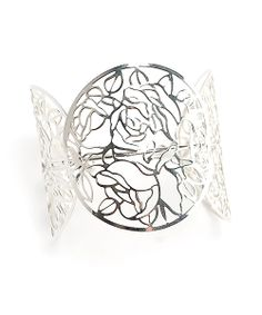 Rose Bush Bangle in Silver // Storets.com // #STORETS #Accessories #Jewelry