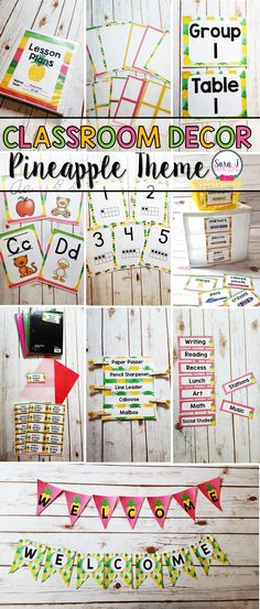 Over 300 pages of editable PINEAPPLE themed classroom decor. Includes everything you need to start decorating your classroom including nametags, calendar, banners, word walls, labels, schedules, alphabets and more! A fun elementary classroom decor theme!