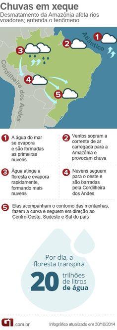 Novo estudo liga desmatamento da Amazônia a seca no país http://glo.bo/1sL3dOo