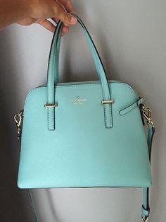 Kate Spade Cedar Street Maise Tiffany Bolsa azul bolsa Crossbody - Fashion =D - Blue Handbags, Cheap Handbags, Handbags Michael Kors, Purses And Handbags, Luxury Handbags, Handbags Online, Luxury Purses, Leather Handbags, Luxury Bags