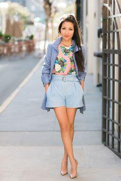 Loving the high waisted shorts!