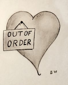 My heart is like the one in the picture right now. I hate to say this is how I feel in my current relationship. Love Hurts, My Love, Sad Drawings, Heart Break Drawings, Broken Heart Sketches, Pencil Drawings, Anti Valentines Day, My Demons, Heart Quotes
