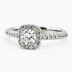 Cushion Halo Engagement Ring | Brilliant Earth