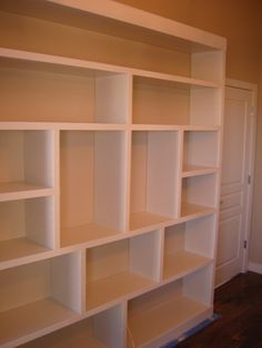 diy built in bookcase | Finished! Built In Bookcase