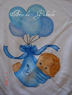Fralda Bebé balões azul