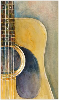 Martin Acoustic Guitar Painting  - Martin Acoustic Guitar Fine Art Print