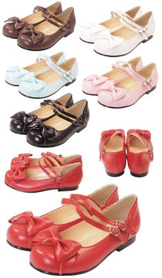 Bodyline Shoes251 - Size 235 [in Black, Brown, Dark Pink, Off White, Pink, Red, or Sax]