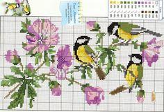 Pájaros en punto de cruz, esquemas gratis | Tu Punto de Cruz