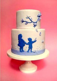 cute silhoutte cake
