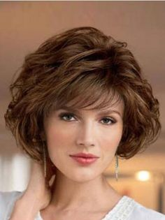 Want Lace Front Cosy Curly Synthetic Medium Wigs? Wigsis offers various mid-length haircuts wigs, top quality with latest colors & styles. Get fantastic mid-length wigs to achieve the most charming look. Short Hair With Layers, Short Hair Cuts, Short Wavy, Short Pixie, Pixie Cut, Short Layered Haircuts, Layered Bob Hairstyles, Medium Hair Styles, Curly Hair Styles