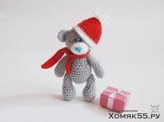 Мишка тедди новогодний
