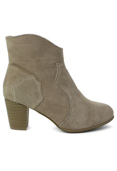 Suede Leather Ankle Boots in Grey - Shoes - Goods - Retro, Indie and Unique Fashion
