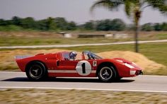 Lloyd Ruby in the Shelby Ford GT40 X-1, at the 12 Hours of Sebring '66: