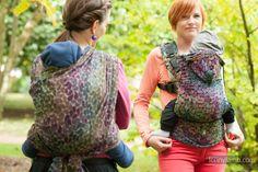 Baby Wrap, Jacquard Weave (100% cotton) - COLORS OF RAIN, size S