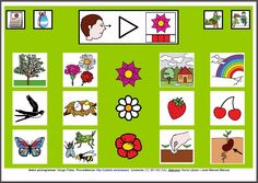 MATERIALES - Tableros de Comunicación de 12 casillas.    Tablero de comunicación de doce casillas sobre la primavera.    http://arasaac.org/materiales.php?id_material=224